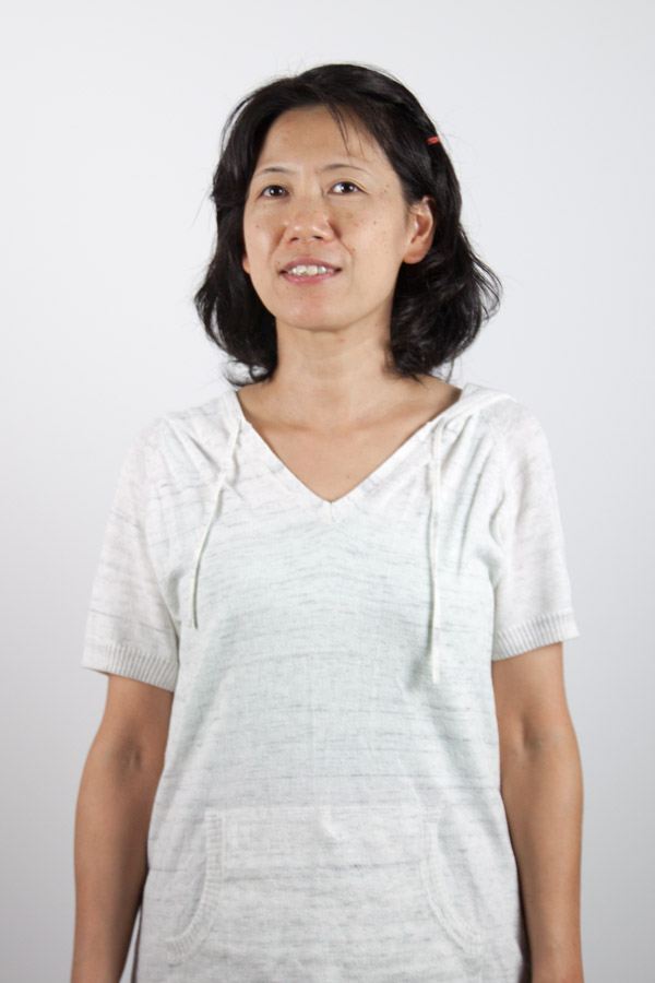 Japanese woman in white shirt
