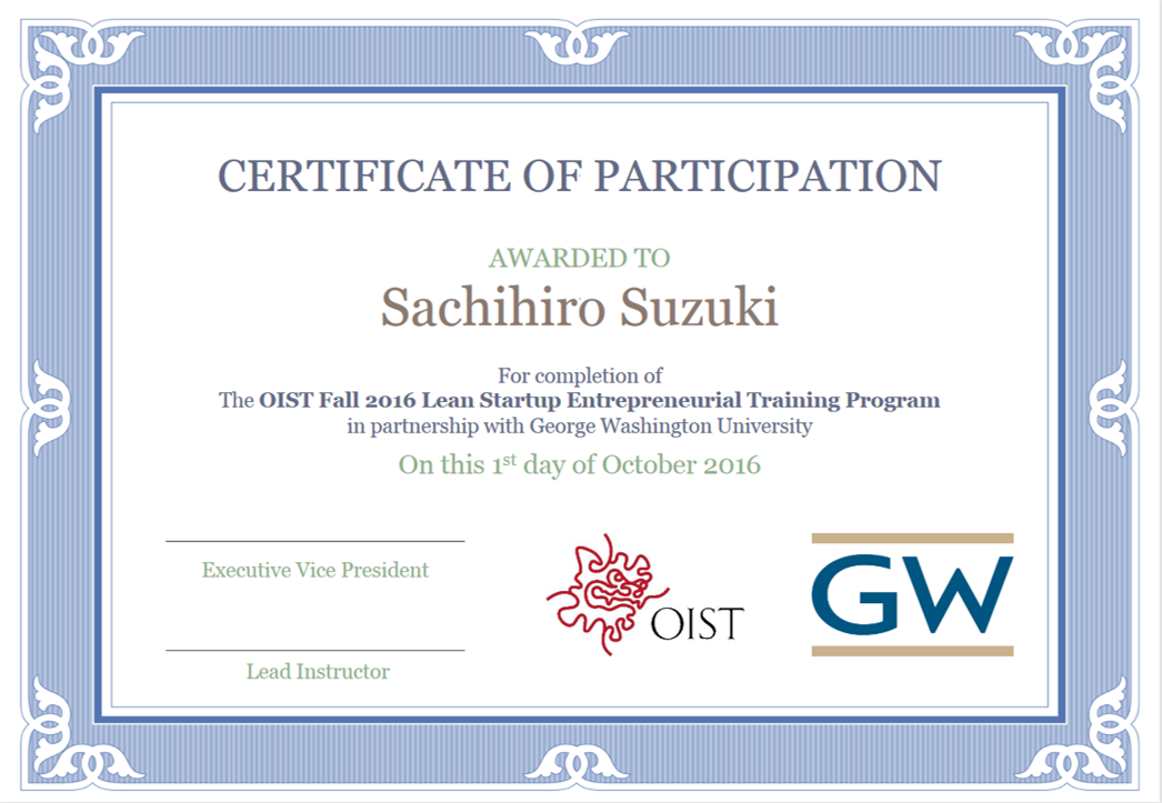 Intro To Entrepreneurship Training Program Oist Groups